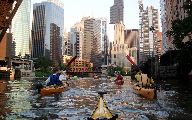 chicago river kayaking rental